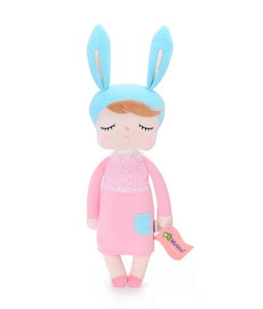 Lalka z uszami Metoo w różowej sukience