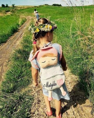 Plecak personalizowany z uszami Metoo Angela Grey Bunny
