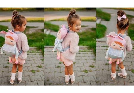 Plecak personalizowany z uszami Metoo Angela Szary