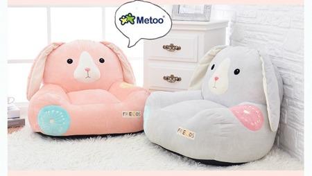Sofa personalizowana Metoo Różowa Królik Friends