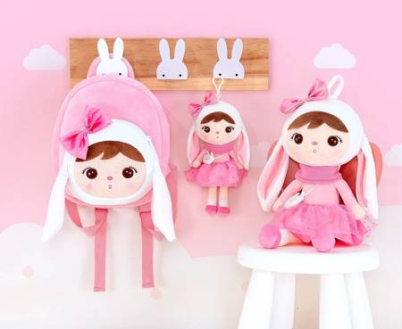 Metoo Personalized Mini Bunny with Bow Doll
