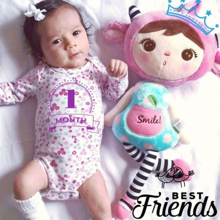 Metoo Personalized Pink Sheep Girl Doll
