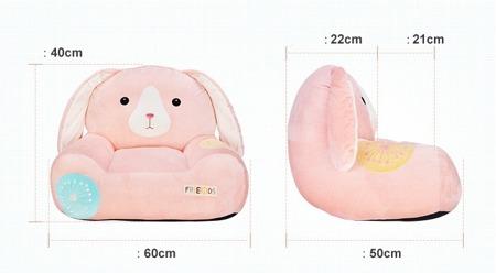 Metoo Pink Bunny Sofa Friends