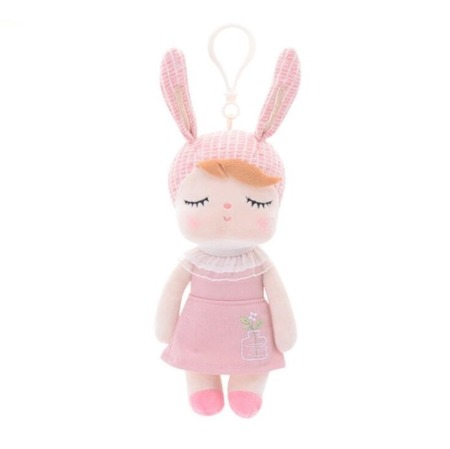 Mini Metoo Angela Personalized Bunny Doll in Pink Dress