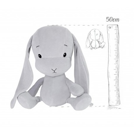 Personalized Bunny Effik L - Gray with Gray ears 50 cm