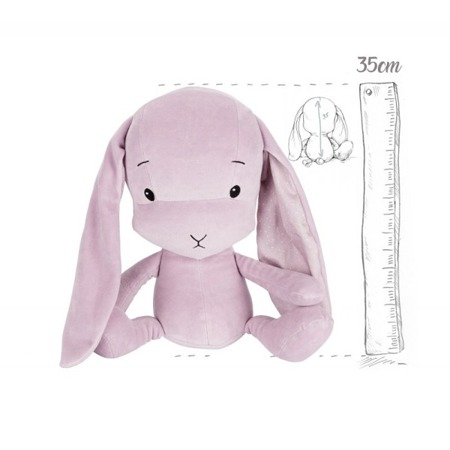 Personalized Bunny Effik M - Dusty Pink + dots by Małgosia Socha 35 cm