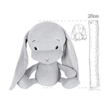 Personalized Bunny Effik S - Gray + dots by Małgosia Socha 20 cm