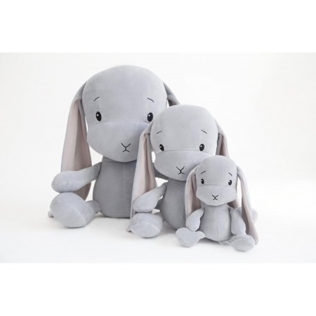 Personalized Bunny Effik S - Grey with Pink ears 20 cm