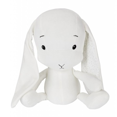 Personalized Bunny Effik S - White + dots by Małgosia Socha 20 cm