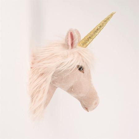 Velveteen Magical Unicorn Head Wall Decoration