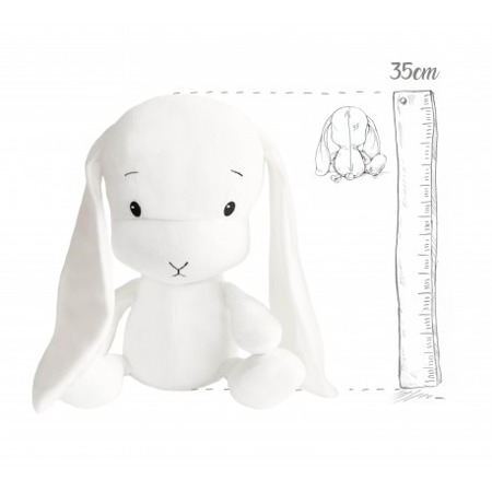 Effik Królik M personalizowany - Biały 35 cm