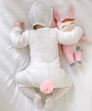 Lalka Metoo Personalizowana Różowy Króliczek  z Torebką Prezentową
